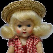 Vogue Ginny Blonde 1953 Strung Doll Talon Zipper Farm Girl