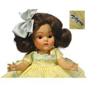 Vogue Ginny 1952 Brunette MARGIE Doll w/Tagged Outfit