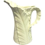 "Royal Worcester - 32 Ounce Pitcher, ""Fern Leaf"" Mold - Exceptional Condition"
