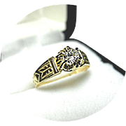 18k Yellow Gold - Diamond Engagement Ring - .26 Carat - Vintage Mounting