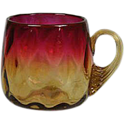 Circa 1870 New England Glass Company Amberina Glass Punch Cup