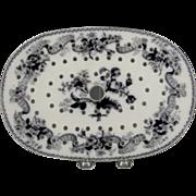 Circa 1846 Wedgwood Platter Drainer or Mezzanine Bouquet Pattern