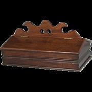 Superb Circa 1850 Mahogany Lidded Two Section Cutlery Box