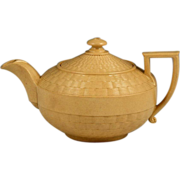 Early 19th Century Wedgwood Caneware Miniature Teapot