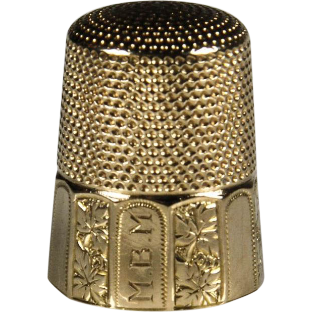 Lovely Vintage 14k Gold Sewing Thimble