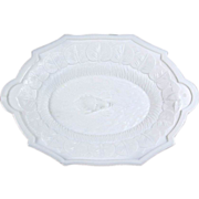 Fine 19th Century EAPG Milk Glass Platter with Hunt Motif