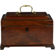 Fine George III Mahogany Tea Caddy
