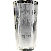 Superb 19th Century Intaglio Cut Etched Bohemian Glass Beaker