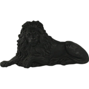 Handsome 19th Century Cast Iron Recumbent Lion Door Stop