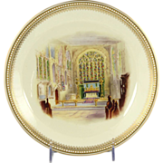Circa 1895 Royal Worcester Plate Shakespeare's Burial Place