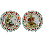 Two Charming Late 19th Century Wedgwood Plates Formosa Pattern with Ducks and Geese