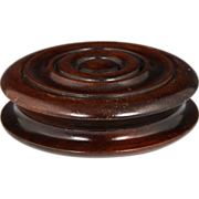 Fine Late Georgian Turned Mahogany Snuff Box