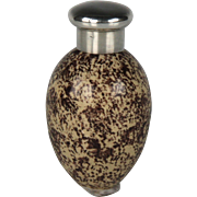 Charming Circa 1885 James Macintyre Egg Form Scent Bottle with Sampson Mordan Sterling Silver Top