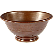 Superb Circa 1840 English Salt Glaze Stoneware Colander