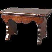 Wonderful Circa 1850 English Mahogany Child's Plank Stool