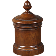 Handsome Circa 1870 English Mahogany Tobacco Jar