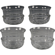 Attractive Set of Four Circa 1840 English Colorless Glass Finger Bowls