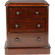 Superb Circa 1860 English Mahogany Apprentice Chest