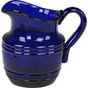 Wonderful Early 19th Century English Free Blown Cobalt Glass Jug