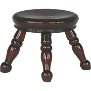 Wonderful Circa 1840 English Miniature Treen Stool