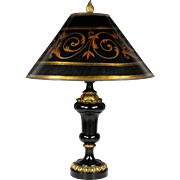 Fabulous Late 19th Century Belgian Slate and Bronze Dore Lamp