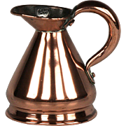 Circa 1830 Miniature English Copper Haystack Jug Gill Measure