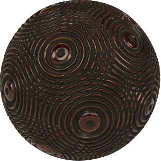 Wonderful 19th Century Carved Mahogany Puzzle Ball Snuff