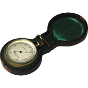 Fine Circa 1870 Cased Pocket Barometer By Thomas L. Ainsley