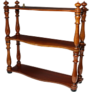 Very Fine Set of Circa 1835 English Mahogany Hanging Shelves