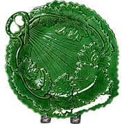 Pleasing Circa 1880 English Majolica Leaf Form Tray