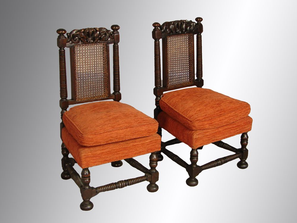 Pair of Boudoir Carved Chairs