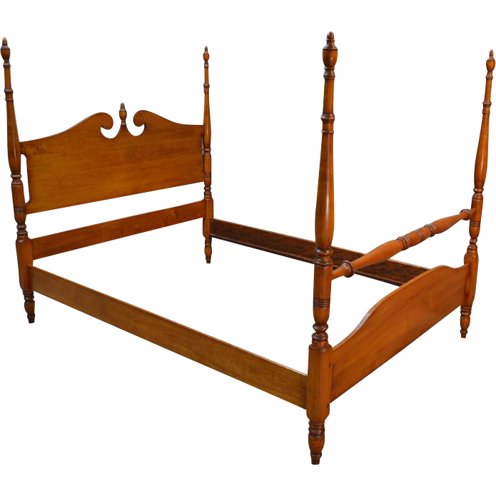 vintage maple pencil post full size poster bed from