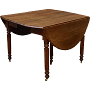 Antique Country Walnut Dining Table - Civil War Era