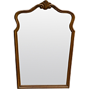 Carved Shapely Victorian Oak Wall Mirror