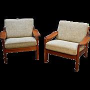 Pair of Teak Arm Chairs