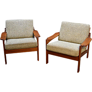Pair of Teak Arm Chairs