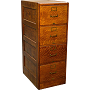 Oak Legal Four Drawer Lawyers File Cabinet