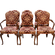 Set of 6 French Dining Chairs – Twin Arms