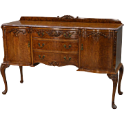 French Burl Walnut Sideboard