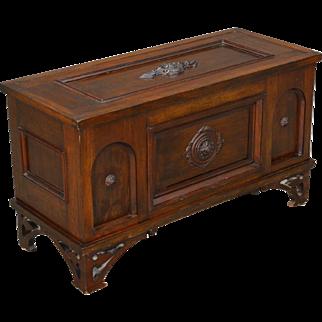 Antique Victorian Walnut Custom Blanket Box