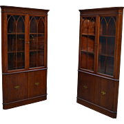 Pair of Mahogany Formal Duncan Phyfe Corner Cabinets – Best Buy