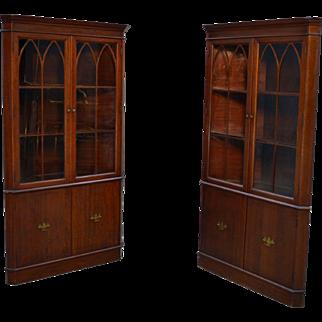 Pair of Mahogany Formal Duncan Phyfe Corner Cabinets – Best Buy