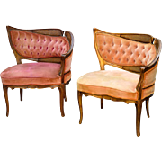 Pair of French Style Boudoir Chairs