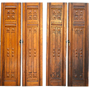 Set of 4 Oak Cupboard / Wardrobe / Closet Doors