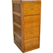Oak Legal Size File Cabinet by Library Bureau