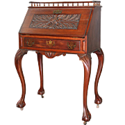 Antique Mahogany Carved Chippendale Lady's Desk – Bench Made