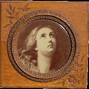 Carved Eastlake Beautiful Oak Frame