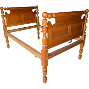 Period Country Bird's Eye Maple Cannon Ball Bed