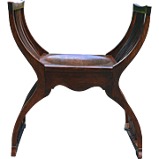 Unusual Oak Camel Seat Style Arm Chair - Rare