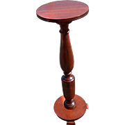 Mahogany Plant Pedestal Stand